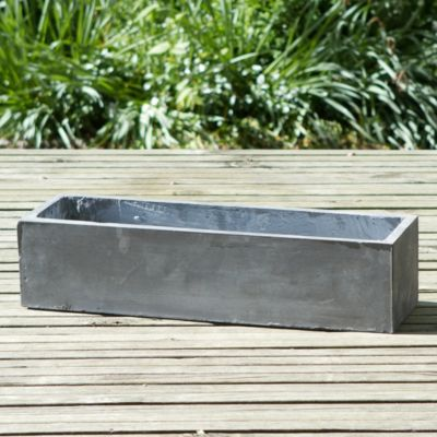 Smooth Fiberclay Trough, Large