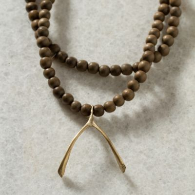 Wishbone & Beads Necklace