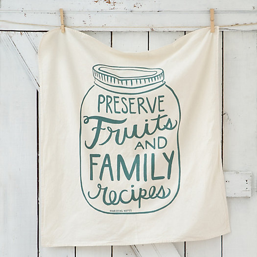 Fruit & Family Tea Towel