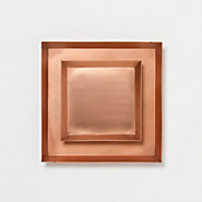 Polished Copper Tray, Square