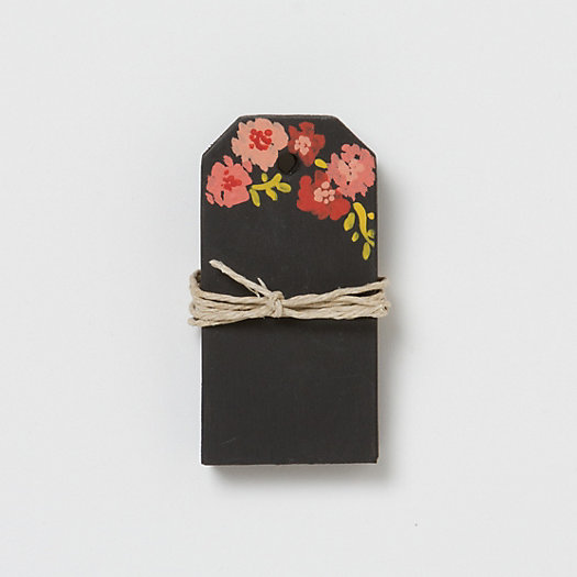 Floral Sketch Chalkboard Tags