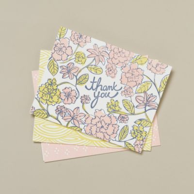 Pressed Patterns Thank You Cards