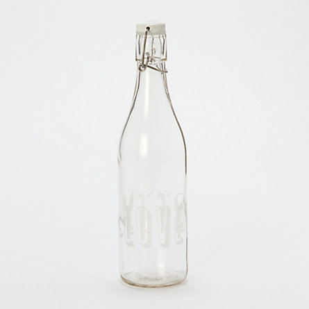 Love Water Bottle, Etched