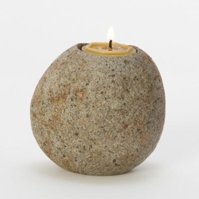 Lava Stone Votive Holder
