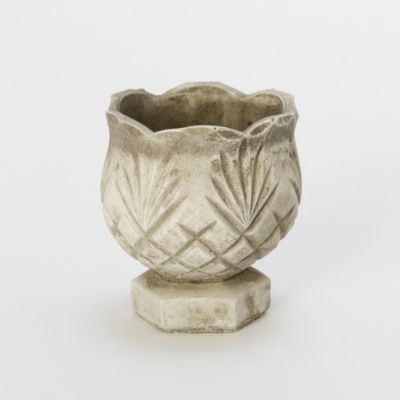 Cast Stone Tulip Pot
