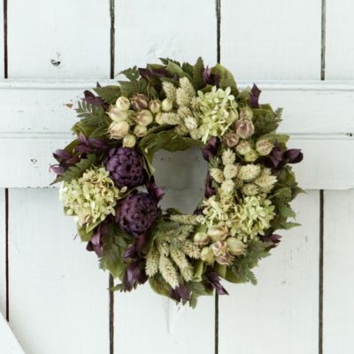 Purple Artichoke Wreath