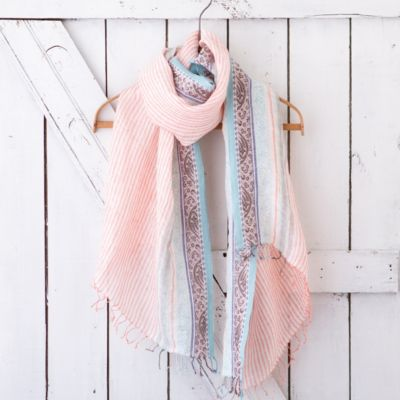 Peach Orchard Scarf