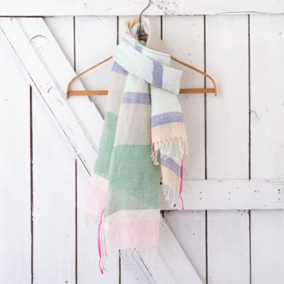 Blocked Linen Scarf