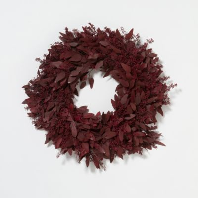 Burgundy Eucalyptus Wreath