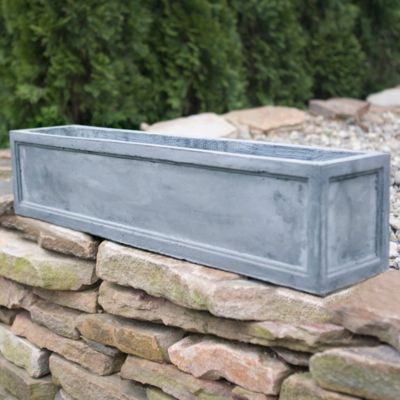 Edged Fiberclay Trough, Low
