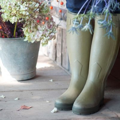 Le Chameau Leather Lined Rain Boot