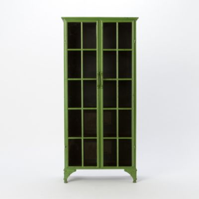 Iron & Glass Tall Cabinet