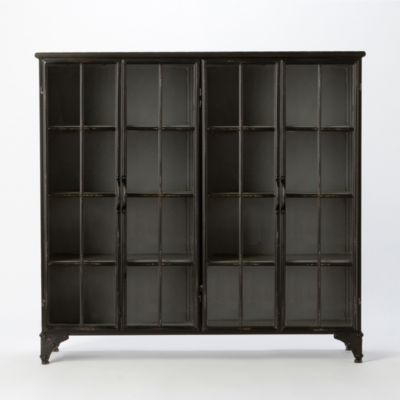 Iron & Glass Collector's Cabinet