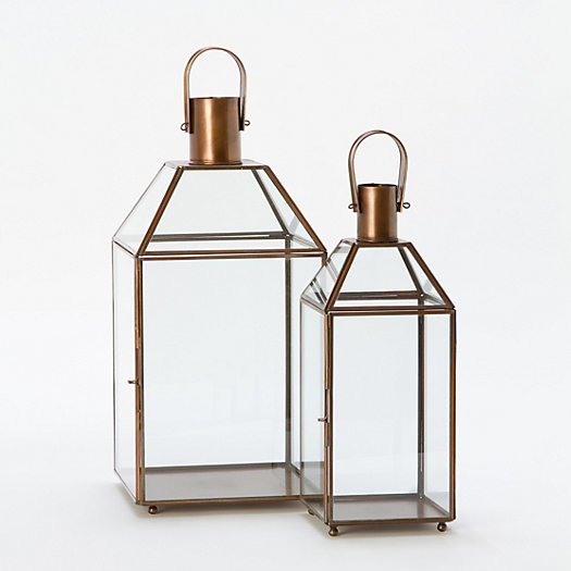 Copper & Glass Lanterns