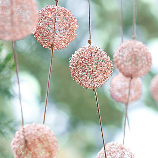 Copper Pompom Garland
