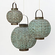 Verdigris Filigree Lanterns