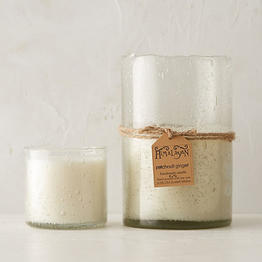 Bubble Glass Candle, Patchouli & Ginger