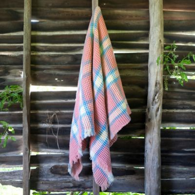 Welsh Honeycomb Heirloom Throw, One-of-a-Kind