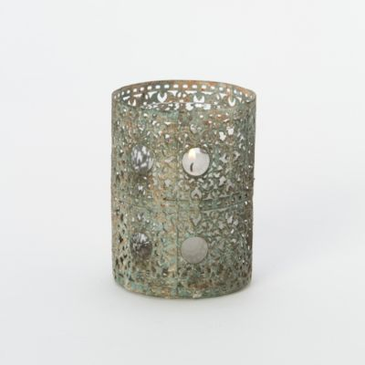 Verdigris Filigree Votive