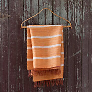 Striped Mohair Throw