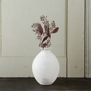 Frosted Glass Vase, Oblong