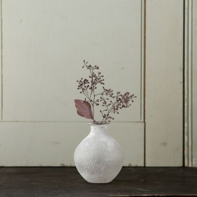 Frosted Glass Vase, Round