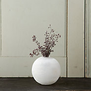 Frosted Glass Vase, Sphere