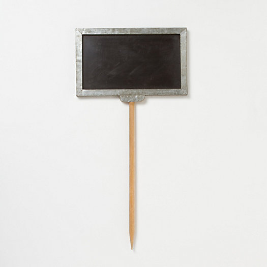 Zinc Arrow Chalkboard Stake