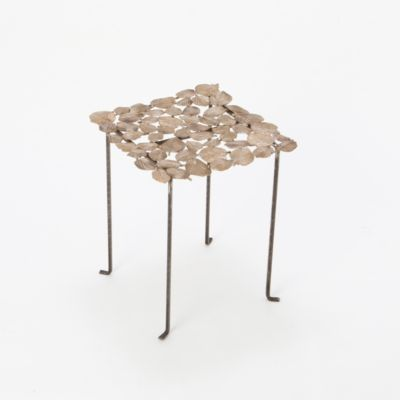 Cast Bronze Leaf End Table