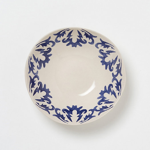 Cobalt Edged Serving Bowl