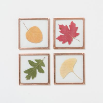Copper Foliage Coaster Set
