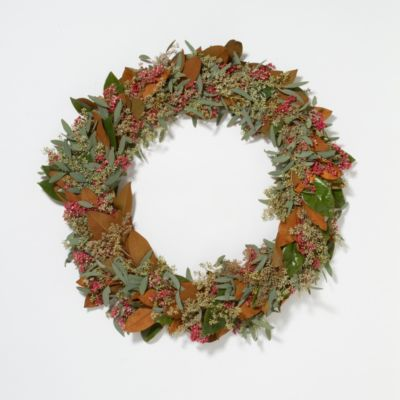 Seeded Magnolia & Pepperberry Wreath, 30 in.