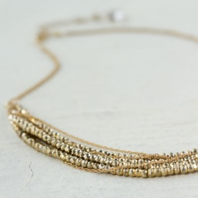 Gold Strata Necklace