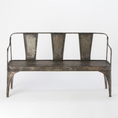 Burnished Iron Bench