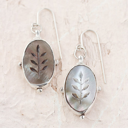 Etched Black Pearl Earrings