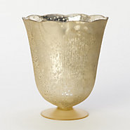 Fluted Mercury Glass Vase