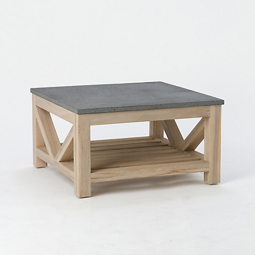Stone & Teak Coffee Table