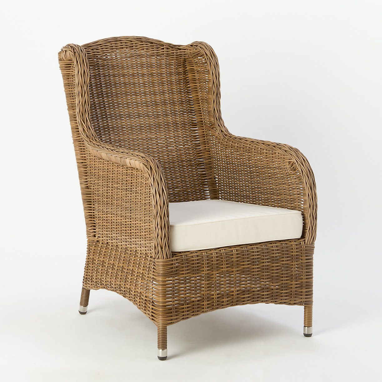 All-Weather Wicker Wingback Chair
