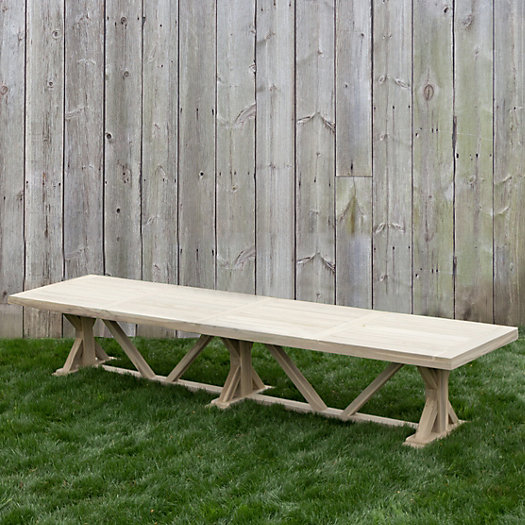 Protected Teak Trestle Dining Table, 14'