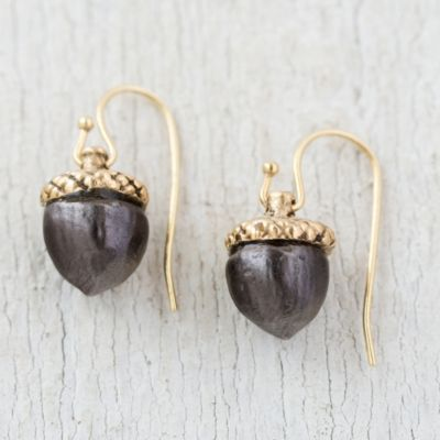Mixed Metal Acorn Earrings