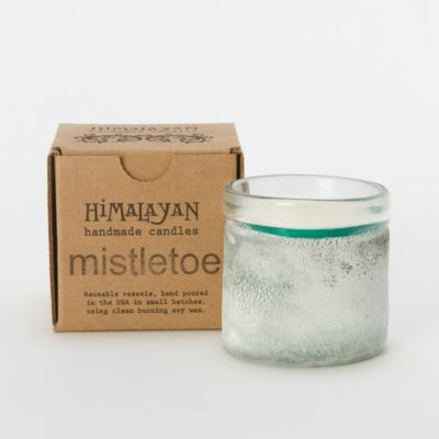 Frosted Mistletoe Candle, Small