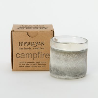 Frosted Campfire Candle, Small