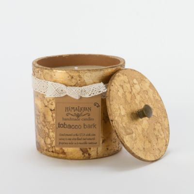 Terracotta Tobacco Bark Candle