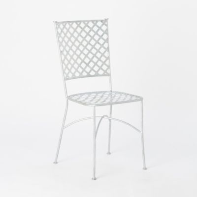 Zinc Lattice Back Chair