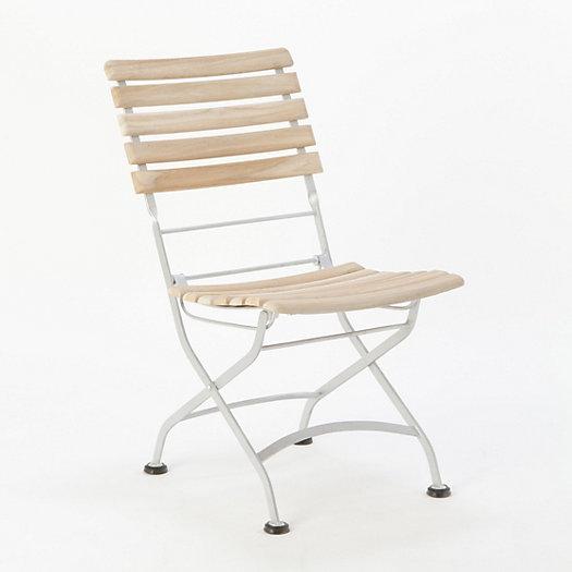 Folding Teak Bistro Chair