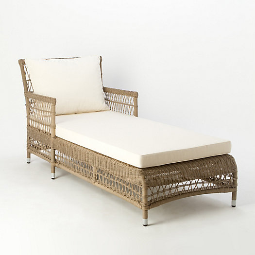 All-Weather Wicker Lounger