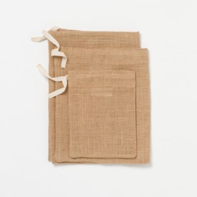 Burlap Gift Bag Set