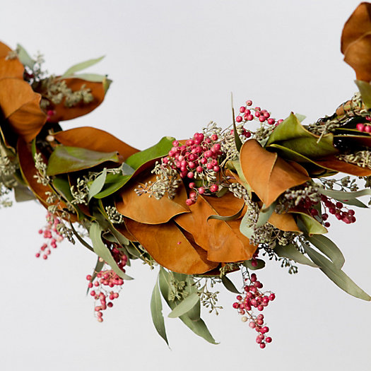 Seeded Magnolia & Pepperberry Garland, 10'