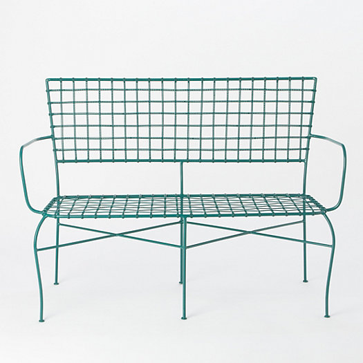 Iron Lattice Back Bench