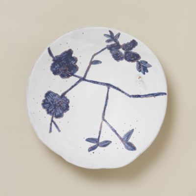 Indigo Bloom Serving Bowl